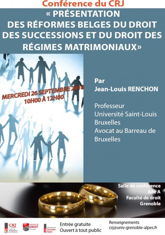 applications regimes matrimoniaux belgiques