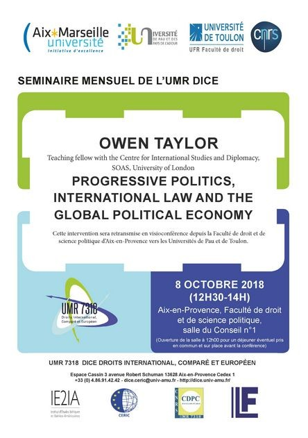 Progressive Politics, International Law and the Global Political Economy