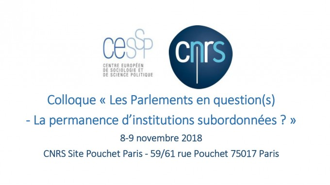 Les Parlements en question(s). La permanence d'institutions subordonnées ?