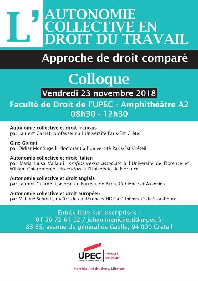 dbc54444c27 L autonomie collective en droit du travail - Portail Universitaire ...