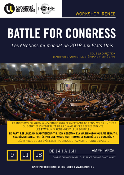 Battle for congress - Les élections mi-mandat de 2018 aux Etats-Unis