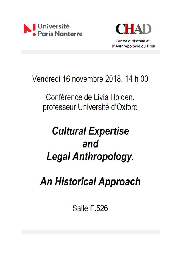 Cultural Expertise and Legal Anthropology