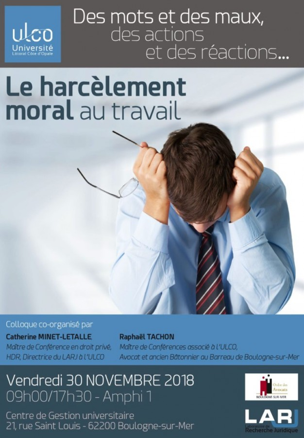 512b4eccb9f Le harcèlement moral au travail - Portail Universitaire du droit