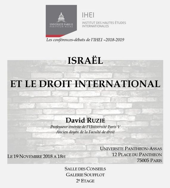 Israël et le droit international