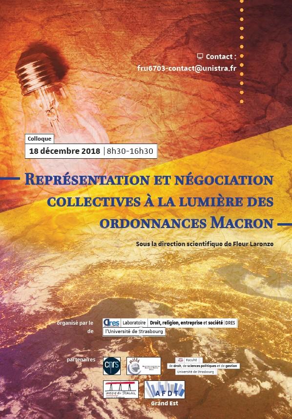 7f95621ad84 Représentation et négociation collectives à la lumière des ordonnances  Macron - Portail Universitaire du droit