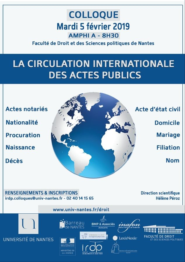 La circulation internationale des actes publics