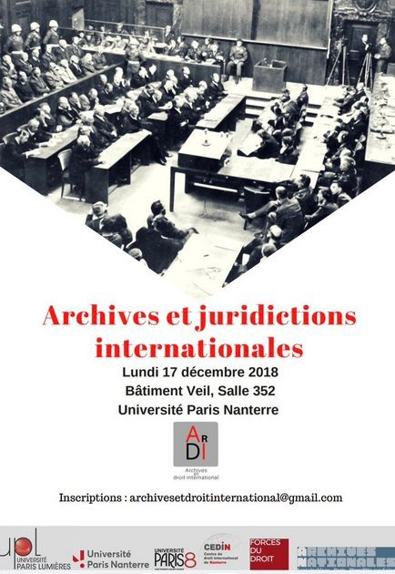 Archives et juridictions internationales