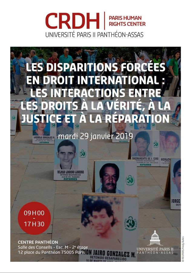 Les disparitions forcées en droit international