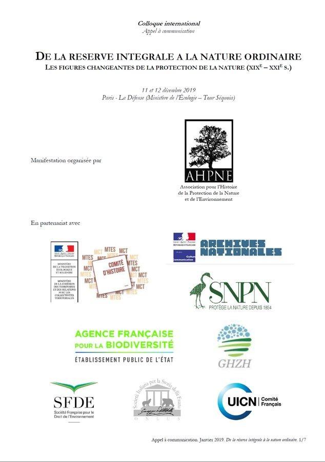 ... Groupe De Travail « Wilderness Et Nature Férale ». Des Philosophes Et  Gestionnaires Du0027espaces Protégés ...