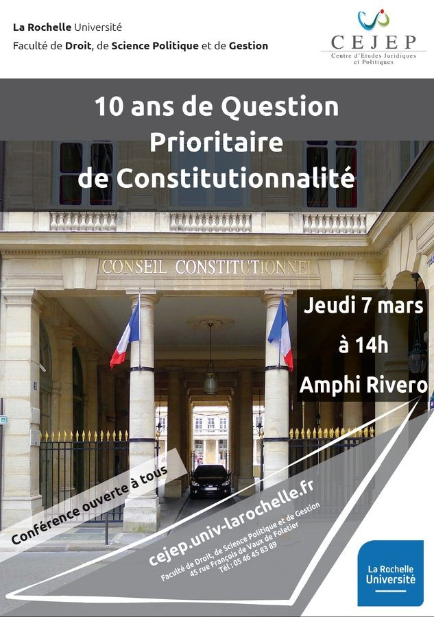 10 ans de Question Prioritaire de Constitutionnalité