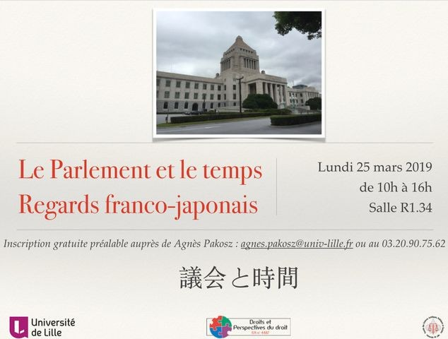 Le Parlement et le temps. Regards franco-japonais