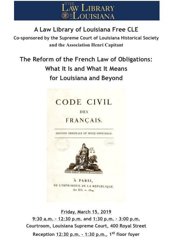 The Reform of the French Law of Obligations