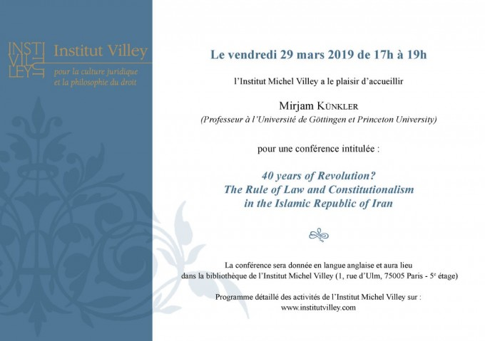 40 years of Revolution ? The Rule of Law and Constitutionalism in the Islamic Republic of Iran