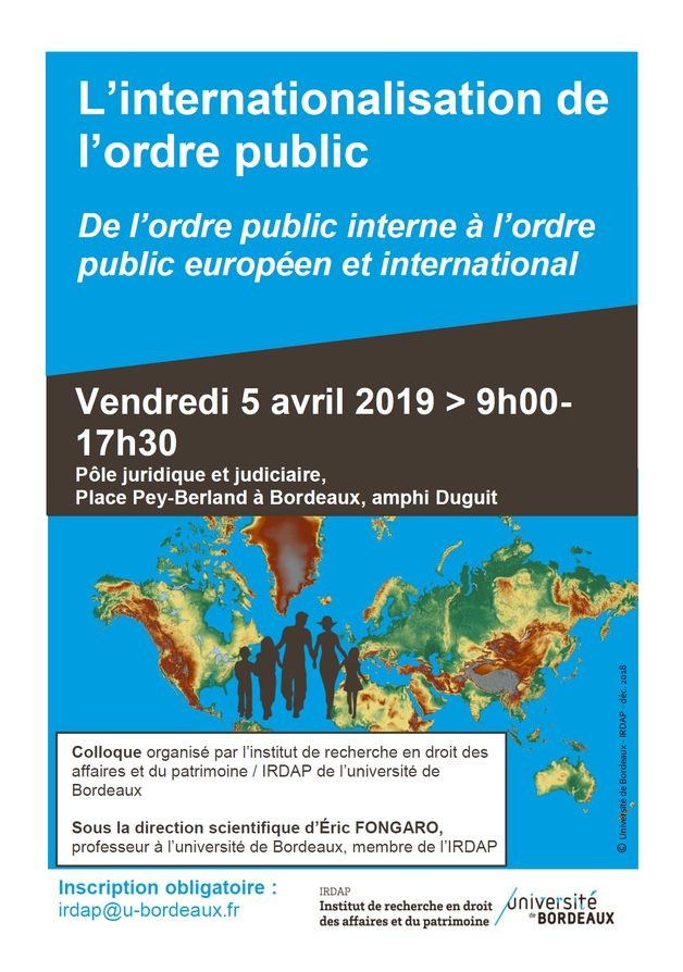 L'internationalisation de l'ordre public