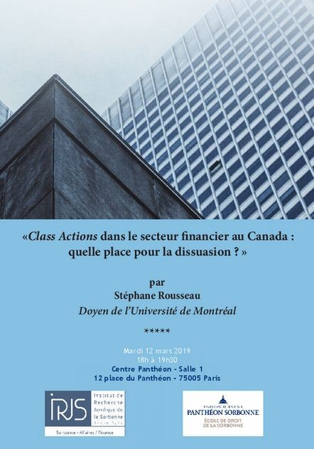 Class Actions dans le secteur financier au Canada : quelle place pour la dissuasion ?