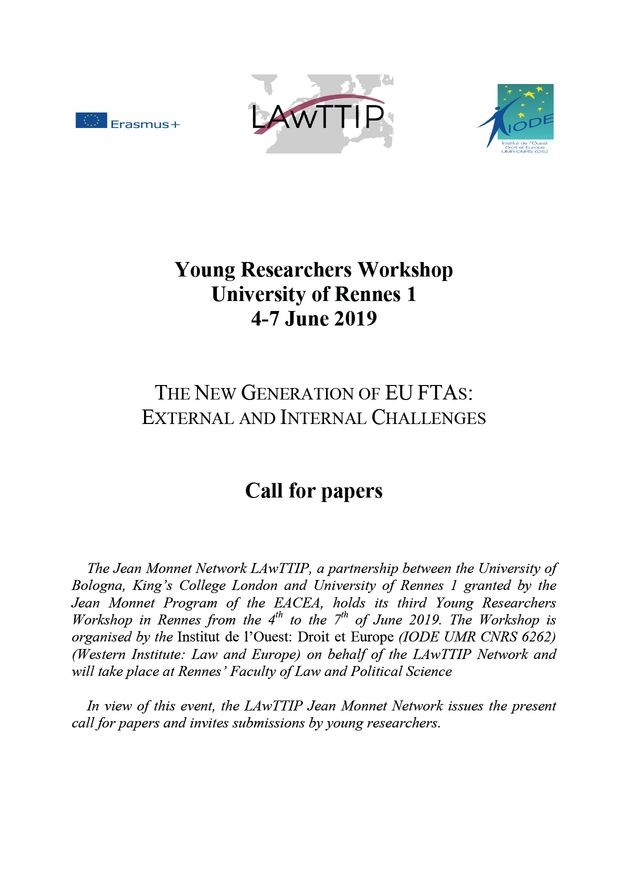 The New Generation of EU FTAs: External and Internal Challenges