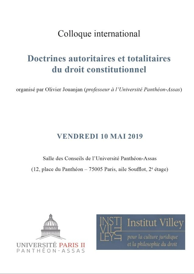 Doctrines autoritaires et totalitaires du droit constitutionnel
