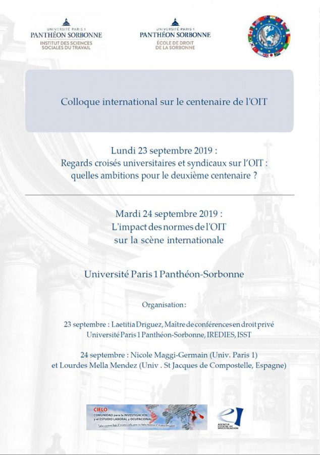 Colloque international sur le centenaire de l'OIT