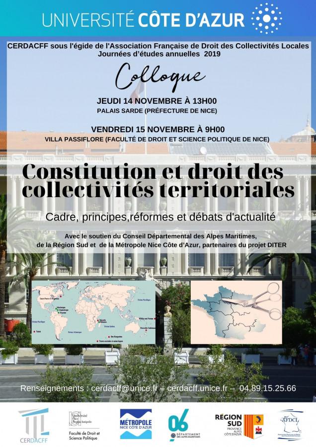 Constitution et droit des collectivités territoriales