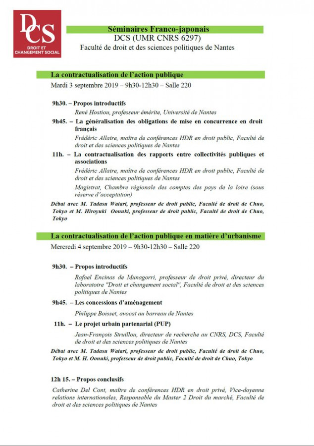 La contractualisation de l'action publique