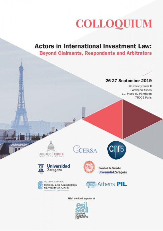 Actors in International Investment Law : Beyond Claimants, Respondents and Arbitrators