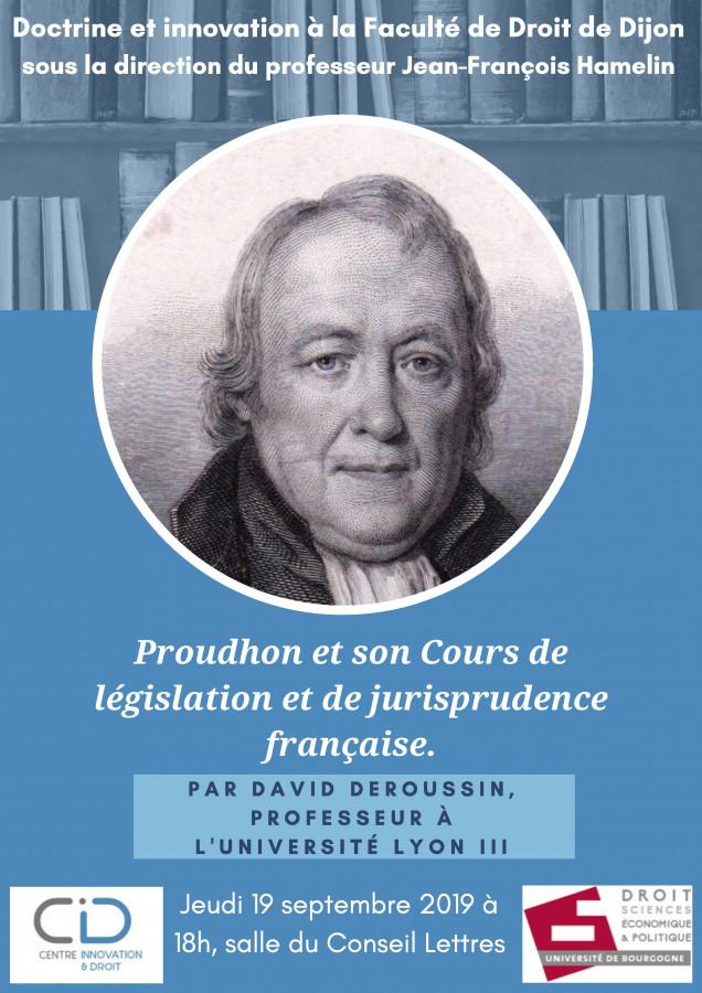 Proudhon et son Cours de législation et de jurisprudence française