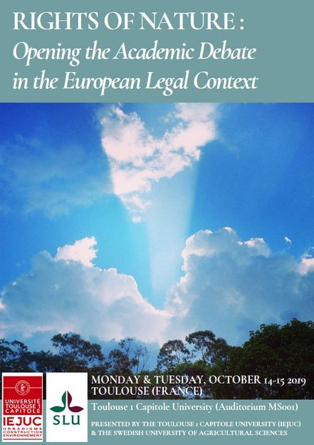 Rights of Nature : Opening the Academic Debate in the European Legal Context