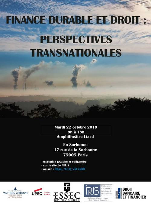 Finance durable et droit : perspectives transnationales