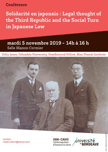 Solidarité en japonais : Legal Thought of the Third Republic and the Social Turn in Japanese Law