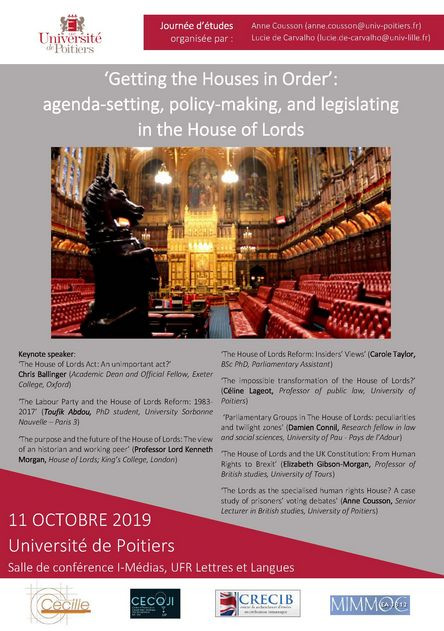 « Getting the Houses in Order » : agenda-setting, policy-making, and legislating in the House of Lords