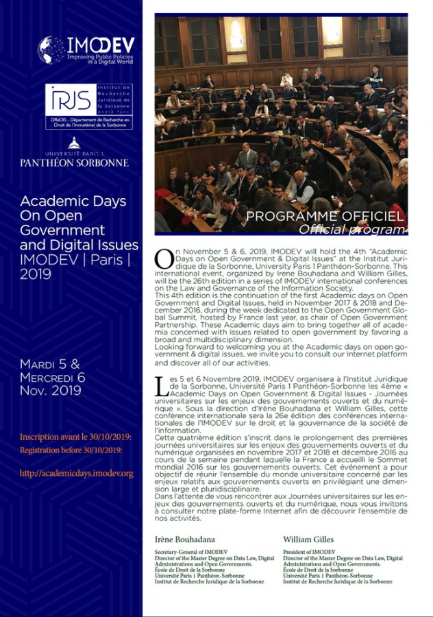 Academic days on Open Government and Digital Issues