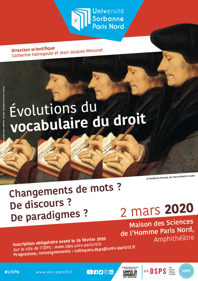Evolutions du vocabulaire du droit