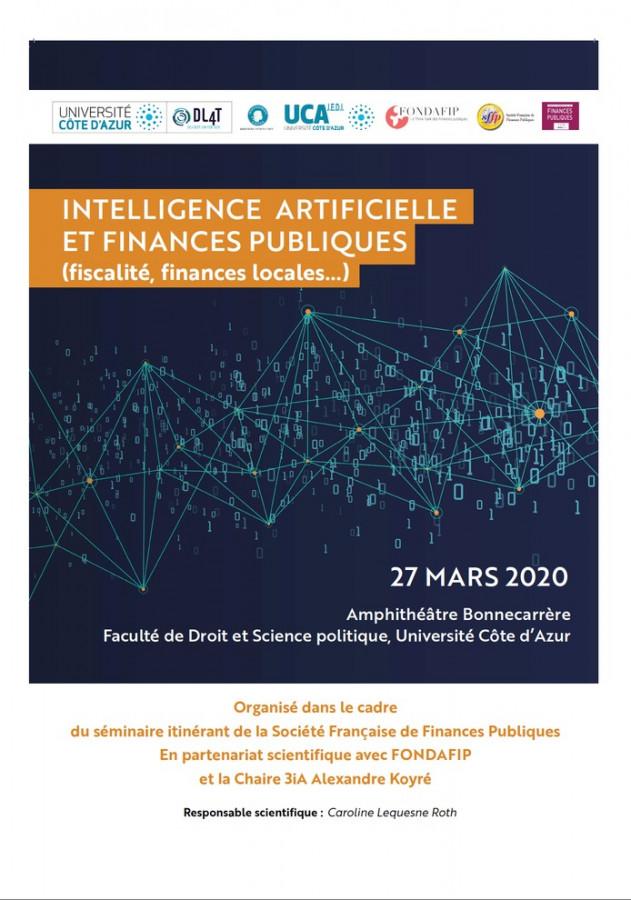 Intelligence artificielle et finances publiques