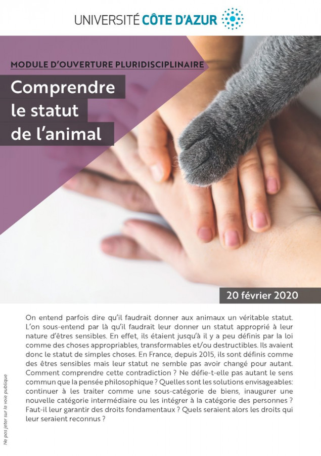 Comprendre le statut de l'animal
