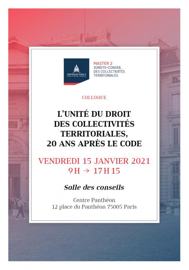 L'unité du droit des collectivités territoriales, 20 ans après le code