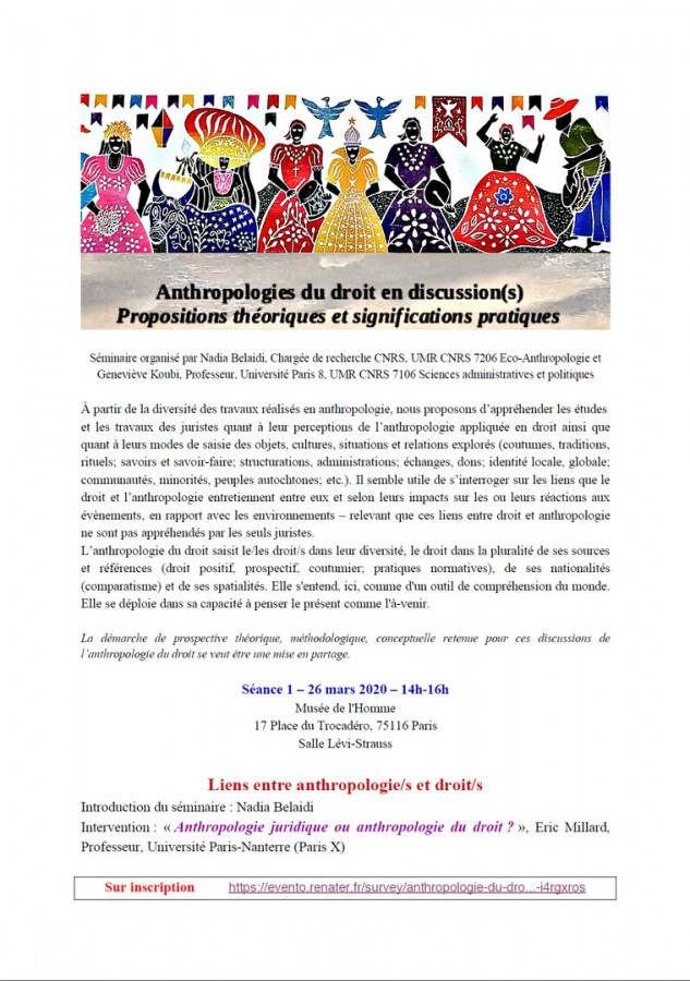 Anthropologie du droit en discussion(s)