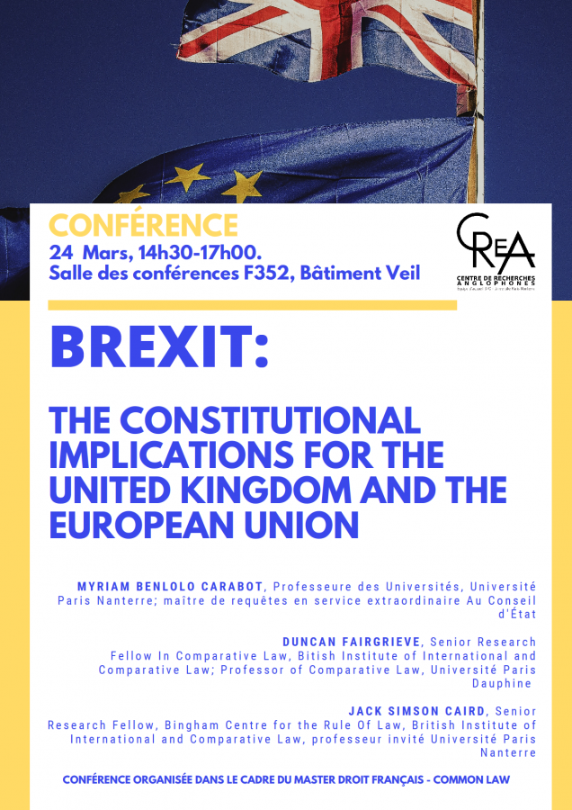 [Reporté] Brexit : The constitutional implications for the United Kingdom and the European Union