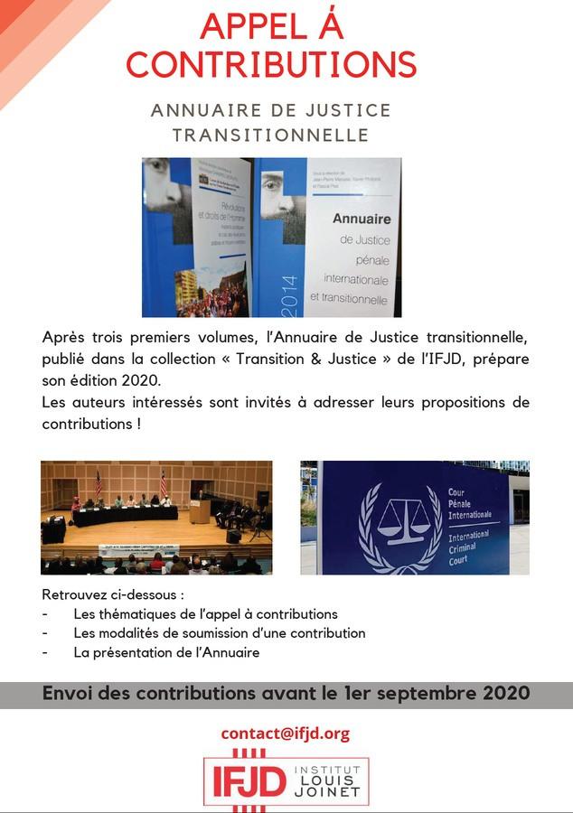 Annuaire de justice transitionnelle, vol. 4 (2020)