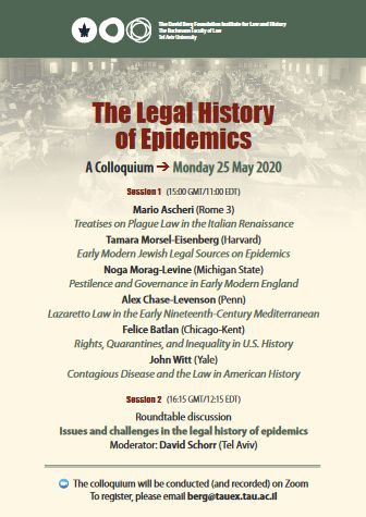 The Legal History of Epidemics