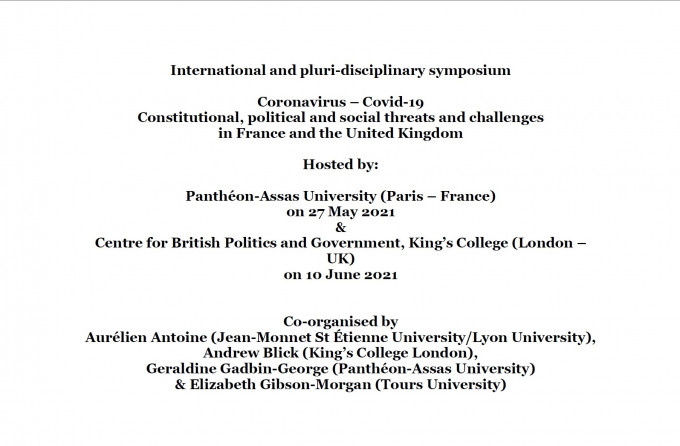 Covid-19. Constitutional, political and social threats and challenges  in France and the United Kingdom