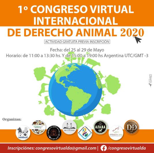 1º Congreso virtual internacional de derecho animal 2020