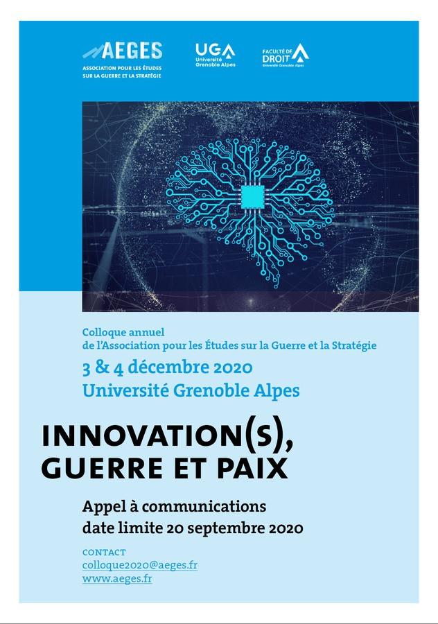 Innovation(s), guerre et paix