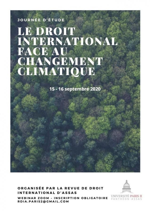 Le droit international face au changement climatique