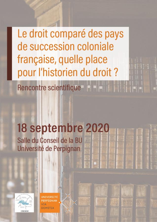 Le droit comparé des pays de succession coloniale française, quelle place pour l'historien du droit ?