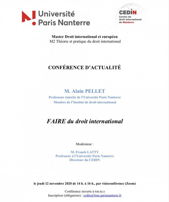 FAIRE du droit international