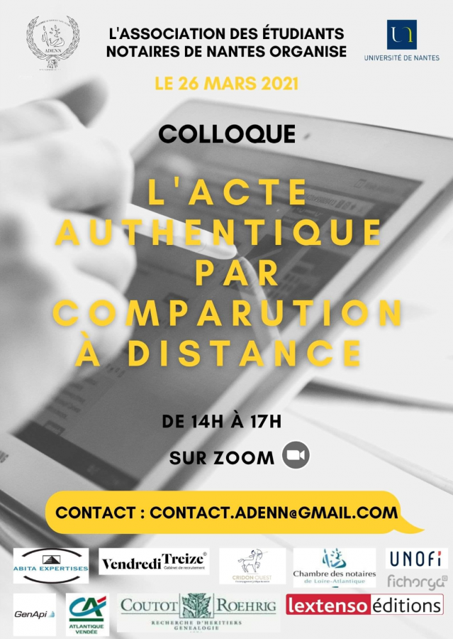 L'acte authentique par comparution à distance