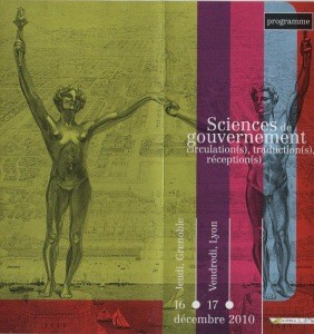 Sciences de gouvernement. Circulation(s), traduction(s, réception(s)