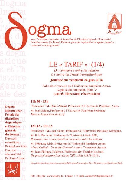 Le Tarif 1 4 Portail Universitaire Du Droit